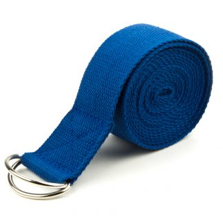 6706 324x324 - Blue 8' Cotton Yoga Strap with Metal D-Ring