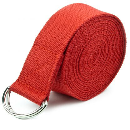 6700 v2 416x416 - Red 8' Cotton Yoga Strap with Metal D-Ring