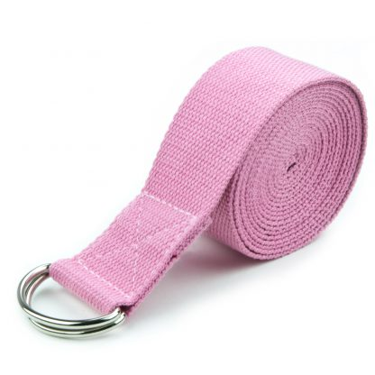 6708 416x416 - Pink 10' Extra-Long Cotton Yoga Strap with Metal D-Ring