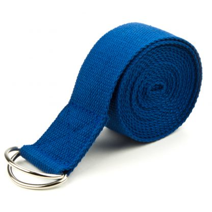 6709 416x416 - Blue 10' Extra-Long Cotton Yoga Strap with Metal D-Ring