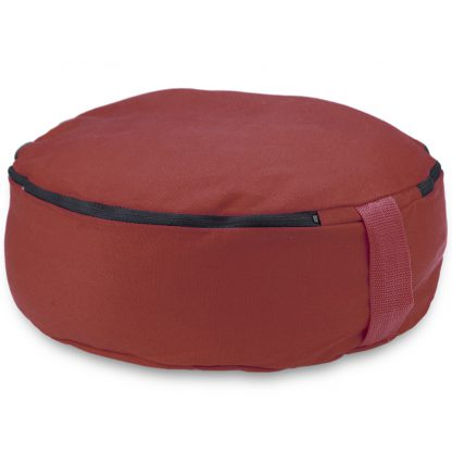 "6757 416x416 - Red 15"" Round Zafu Meditation Cushion"