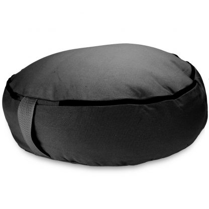 "6758 416x416 - Black 18"" Round Zafu Meditation Cushion"