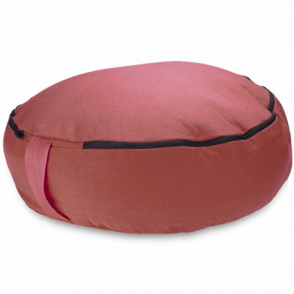 "6761 416x416 - Red 18"" Round Zafu Meditation Cushion"